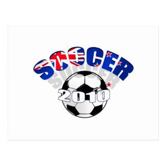 Ilustraciones del balón de fútbol de la bandera de tarjeta postal