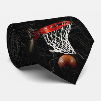 Ilustraciones del baloncesto corbata personalizada