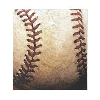 Ilustraciones del béisbol blocs de notas