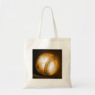 Ilustraciones del béisbol bolsa tela barata