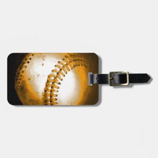 Ilustraciones del béisbol etiquetas de equipaje