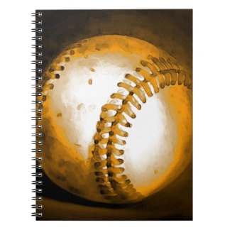 Ilustraciones del béisbol libretas espirales