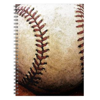 Ilustraciones del béisbol libreta espiral