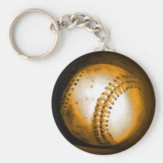 Ilustraciones del béisbol llavero redondo tipo pin