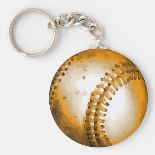 Ilustraciones del béisbol llaveros personalizados