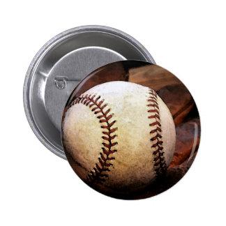 Ilustraciones del béisbol pin redondo 5 cm