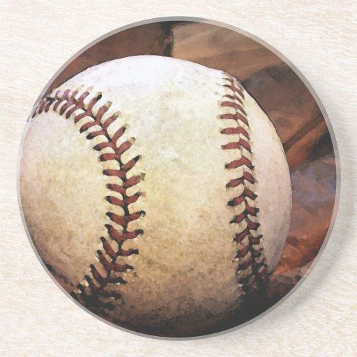 Ilustraciones del béisbol posavasos cerveza