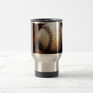 Ilustraciones del béisbol taza térmica