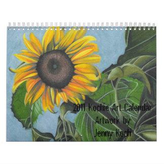 Ilustraciones del calendario del arte de Kochie de