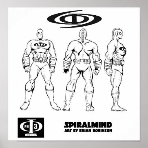 Ilustraciones del cambio de SPIRALMIND de Brian Ro Póster