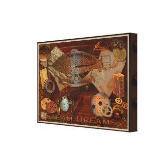 Ilustraciones del collage del Victorian de Steampu Impresión En Lienzo