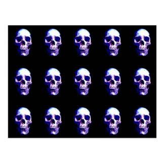 Ilustraciones del cráneo tarjetas postales