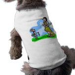 Ilustraciones del cristiano de David and Goliath Camiseta De Mascota