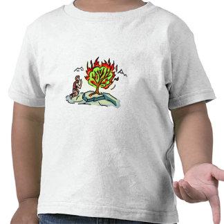 Ilustraciones del cristiano de Moses y de la zarza Camiseta