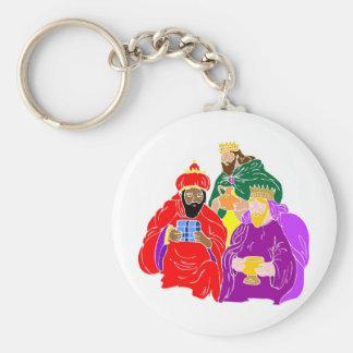 Ilustraciones del cristiano de tres wisemen llavero redondo tipo pin
