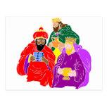 Ilustraciones del cristiano de tres wisemen tarjeta postal