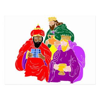 Ilustraciones del cristiano de tres wisemen tarjetas postales