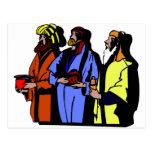 Ilustraciones del cristiano de Wisemen Postal