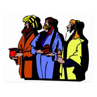 Ilustraciones del cristiano de Wisemen Tarjeta Postal