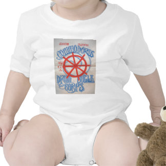 Ilustraciones del cuerpo de tambor y de bugle de l camiseta