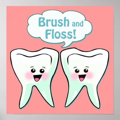 Ilustraciones del dentista del cepillo y de la sed impresiones