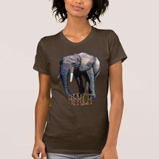 ¡Ilustraciones del elefante africano para los Camisetas