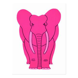 Ilustraciones del elefante rosado tarjeta postal