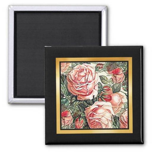 Ilustraciones del estampado de flores o imán de la