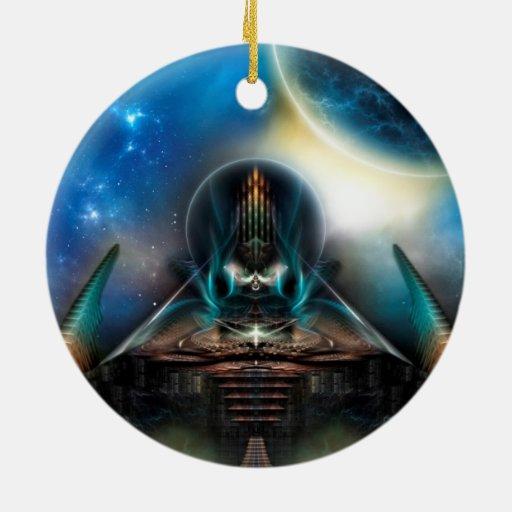 Ilustraciones del fractal de la ciencia ficción de adorno de navidad