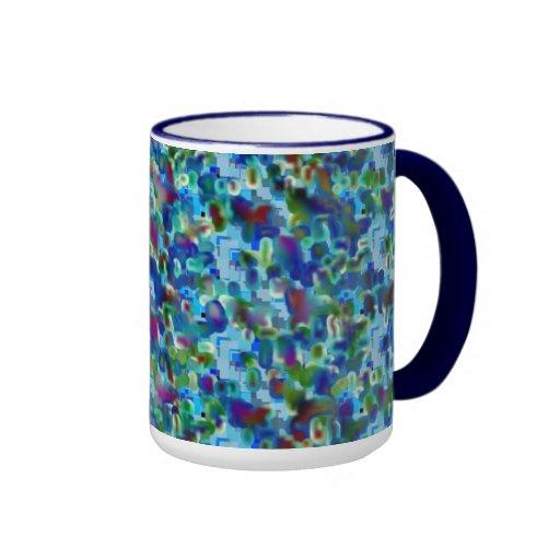 Ilustraciones del fractal de la mandala taza de dos colores