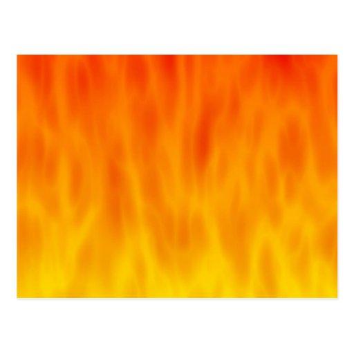 Ilustraciones del fuego/de las llamas: postal
