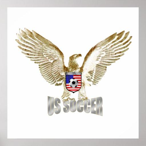 Ilustraciones del fútbol de Eagle del fútbol de Es Póster