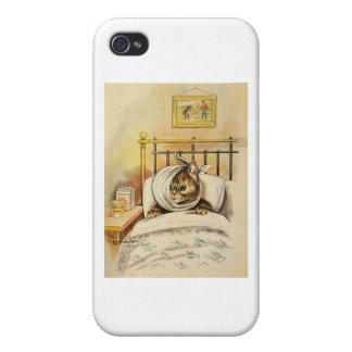 Ilustraciones del gatito del dolor de muelas de Lo iPhone 4/4S Fundas