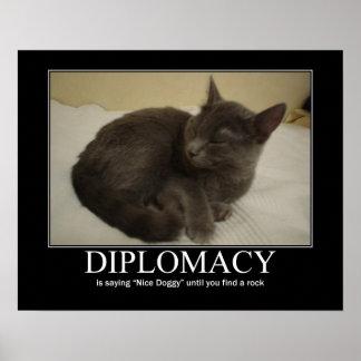 Ilustraciones del gato de la diplomacia posters