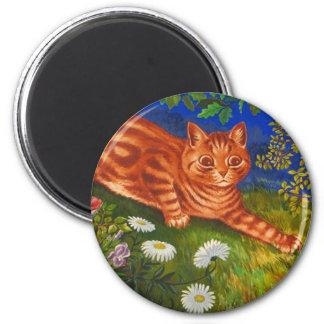 Ilustraciones del gato del jardín de Louis Wain Imán Redondo 5 Cm