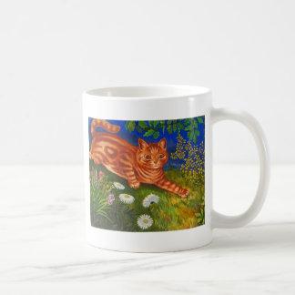 Ilustraciones del gato del jardín de Louis Wain Taza De Café