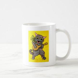 Ilustraciones del gato del Ukulele de Louis Wain Taza De Café