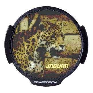 Ilustraciones del gato grande de Jaguar Pegatina LED Para Ventana