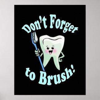 Ilustraciones del higienista dental del dentista posters