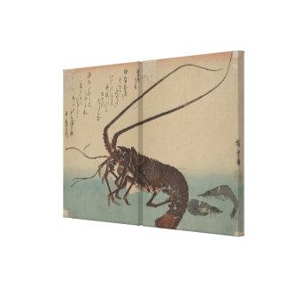Ilustraciones del japonés del vintage pre-1900s impresion en lona