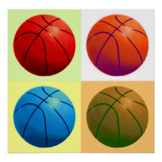Ilustraciones del juego de baloncesto póster
