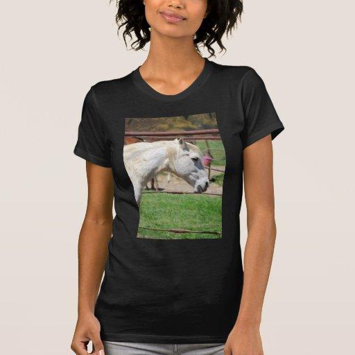 ilustraciones del lápiz del caballo blanco camiseta