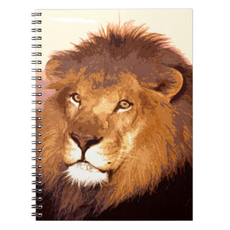 Ilustraciones del león libreta espiral