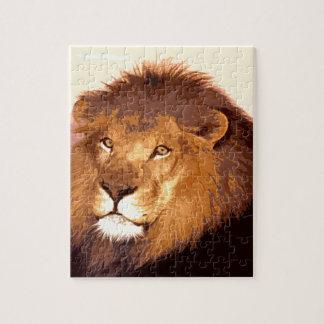 Ilustraciones del león rompecabeza