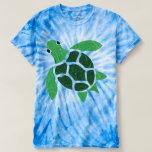 Ilustraciones del mosaico de la tortuga de mar de polera