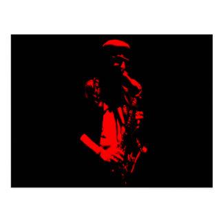 Ilustraciones del músico del saxofón postal