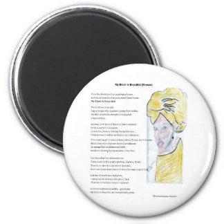 Ilustraciones del orgullo y productos negros de lo imán redondo 5 cm