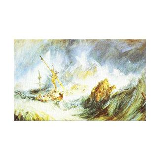 Ilustraciones del paisaje marino de JMW Turner - n Lona Envuelta Para Galerias