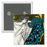 Ilustraciones del pavo real de Nouveau del arte -  Pin