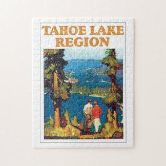 Ilustraciones del poster del viaje del vintage de puzzle